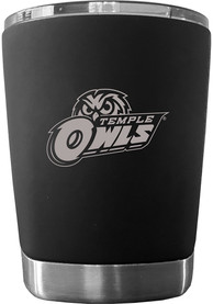 Temple Owls 12 oz Low Ball Stainless Steel Tumbler - Black