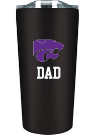 K-State Wildcats 18 oz Soft Touch Stainless Steel Tumbler - Black