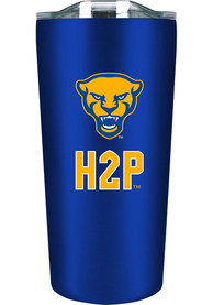 Pitt Panthers 18oz Soft Touch Stainless Steel Tumbler - Blue