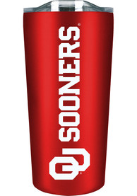 Oklahoma Sooners Team Logo 18oz Soft Touch Stainless Steel Tumbler - Red
