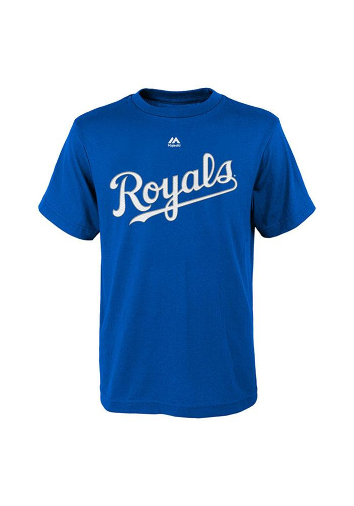 Salvador Perez Kansas City Royals Boys Blue Boys 4-7 Perez Short Sleeve T-Shirt - Image 2