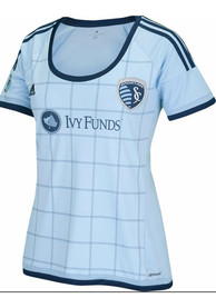 Sporting Kansas City Womens Adidas Replica Primary 2015 Replica Soccer - Light Blue