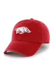 47 Arkansas Razorbacks Clean Up Adjustable Hat - Cardinal