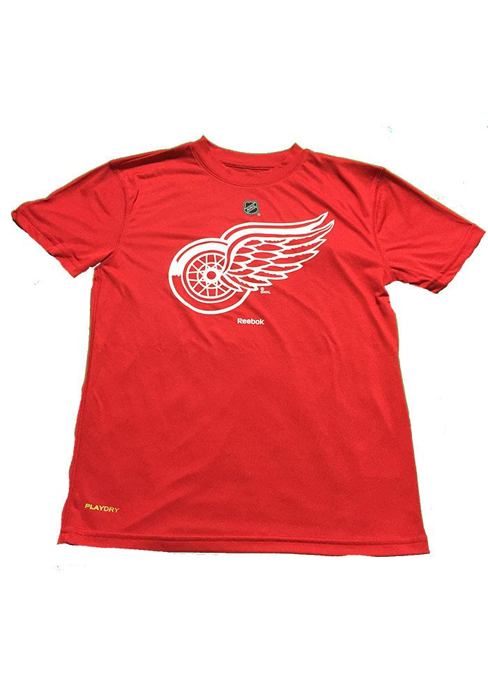 Detroit Red Wings Youth Red Performance Long Sleeve T-Shirt - Image 1
