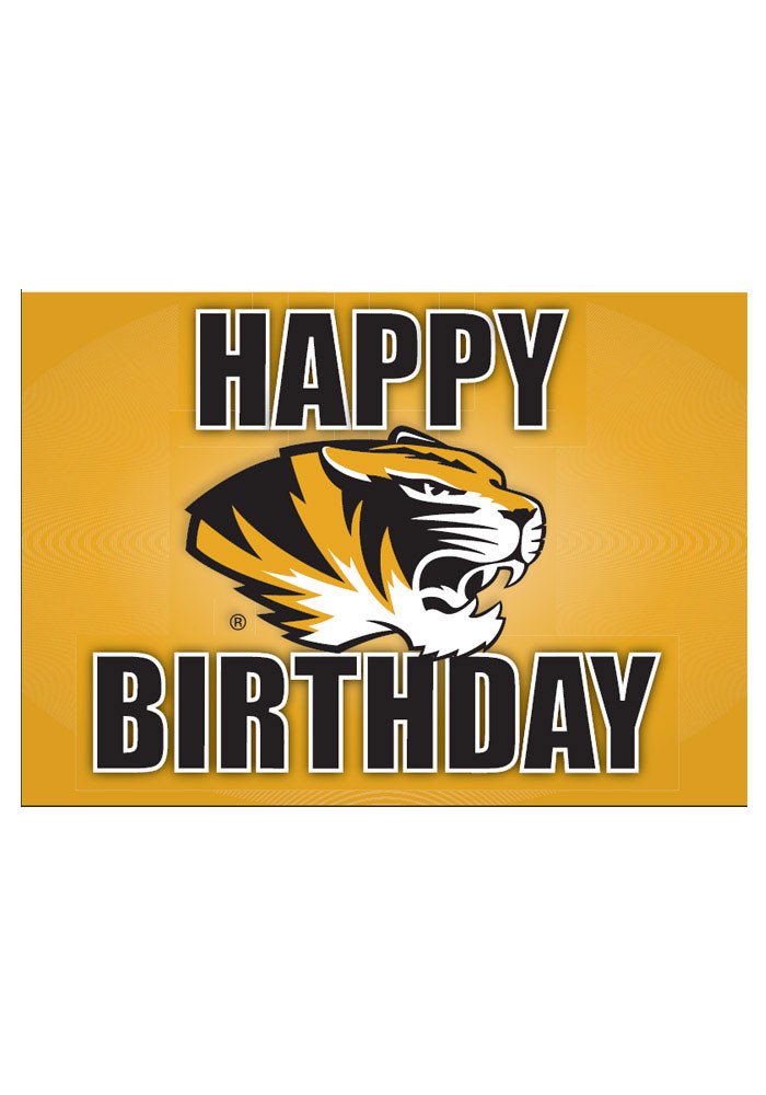 Missouri Tigers Happy Birthday Card - Image 1