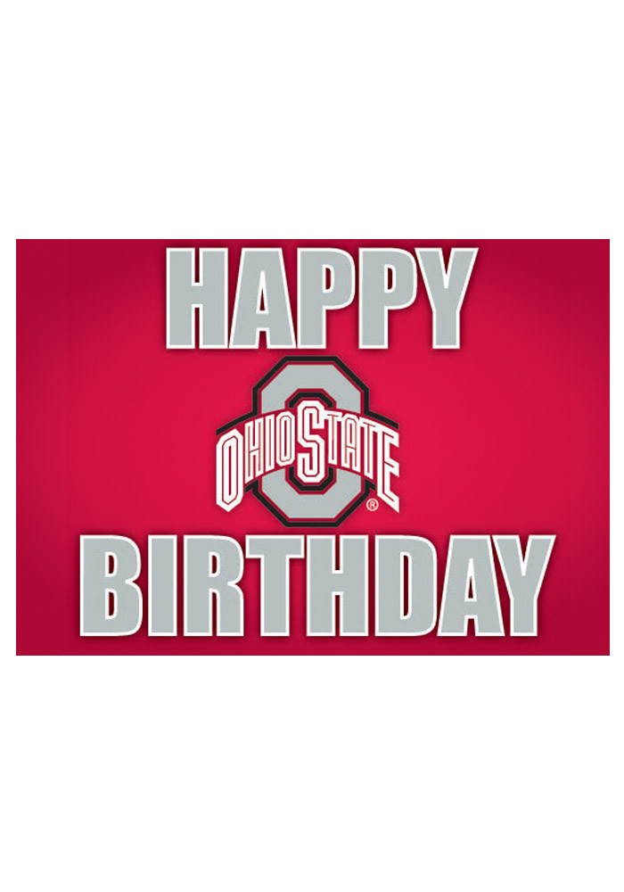 Ohio State Buckeyes Happy Birthday Card - Image 1