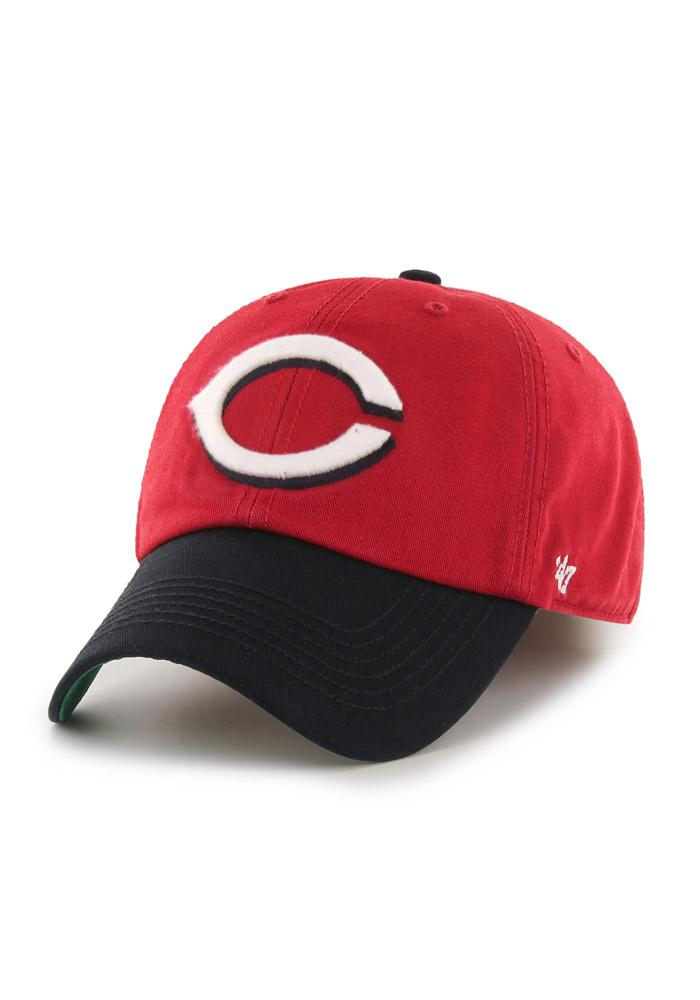 '47 Cincinnati Reds Mens Red `47 Franchise Fitted Hat - Image 2