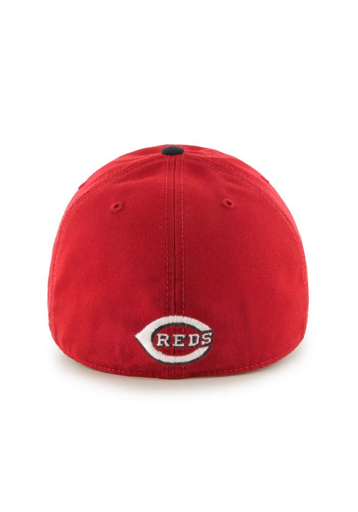 '47 Cincinnati Reds Mens Red `47 Franchise Fitted Hat - Image 3