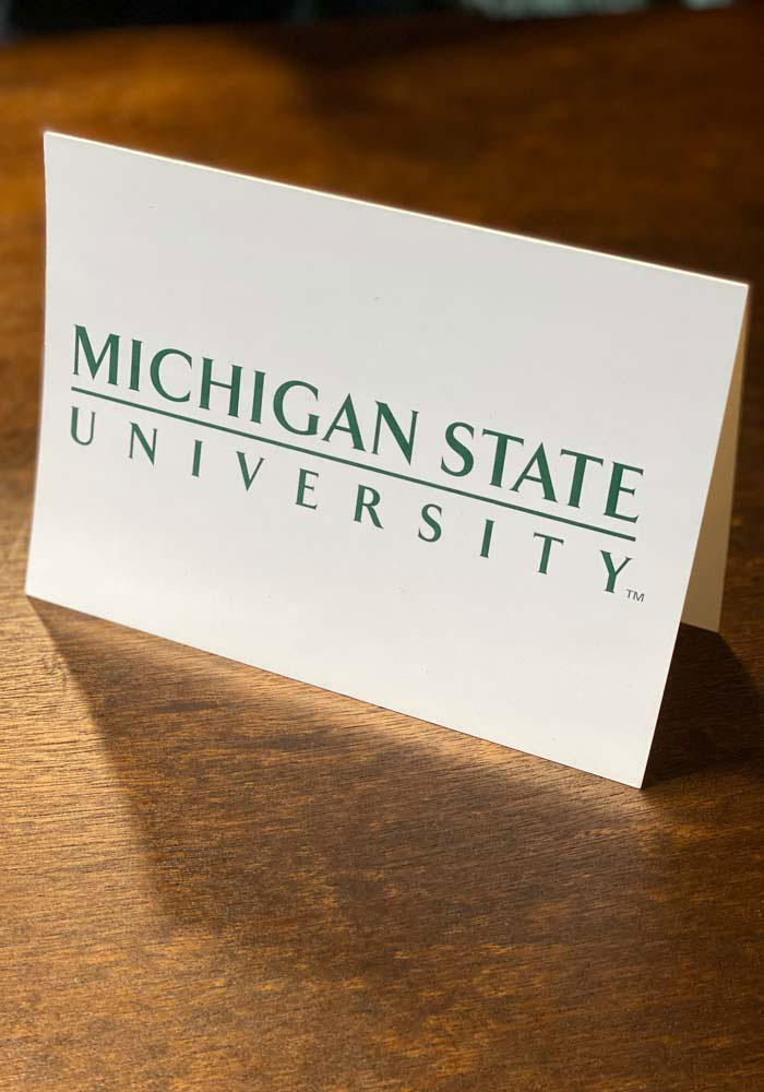 Michigan State Spartans Blank Inside Card - Image 1