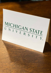 Michigan State Spartans Blank Inside Card