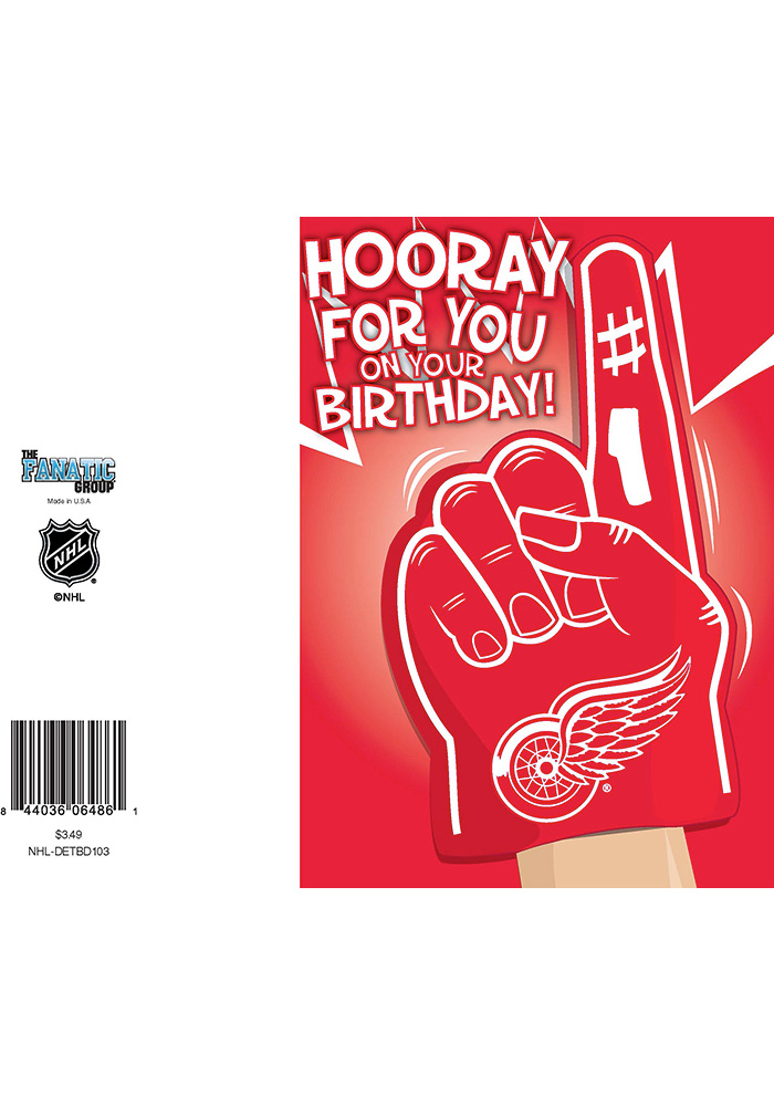 Detroit Red Wings BD Card - Image 1