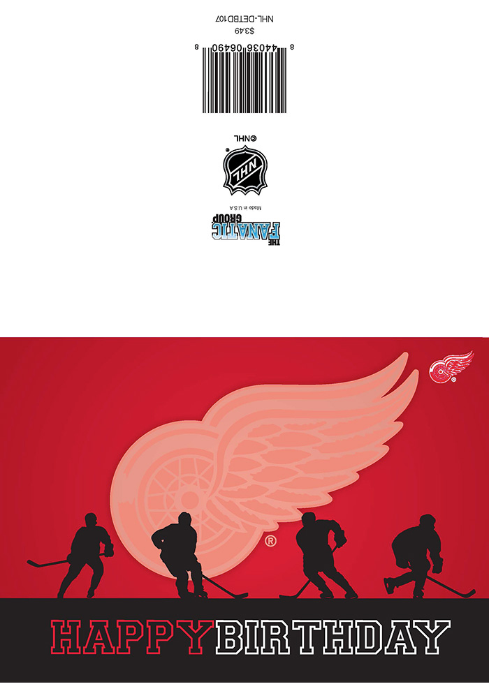 Detroit Red Wings Happy Birthday Card - Image 1
