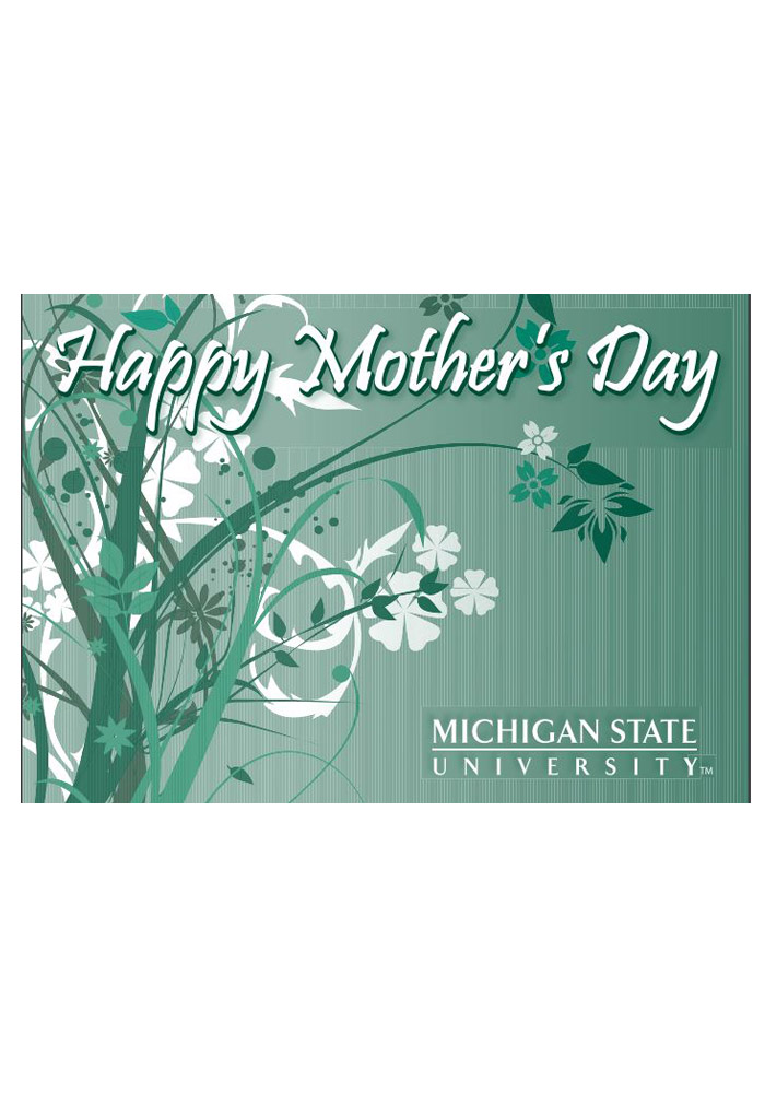 Michigan State Spartans Mother`s Day Card - Image 1