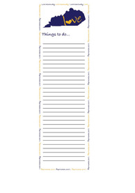 Kentucky State Love Notepad