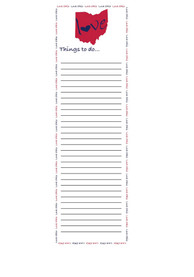 Ohio State Love Notepad