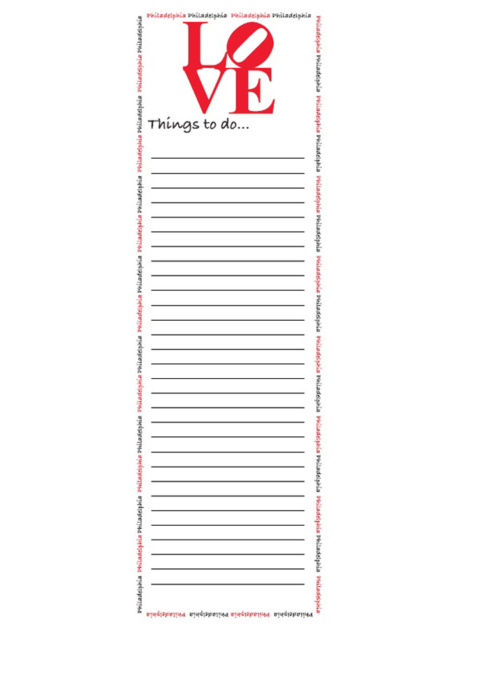 Love Philly Notepad - Image 1