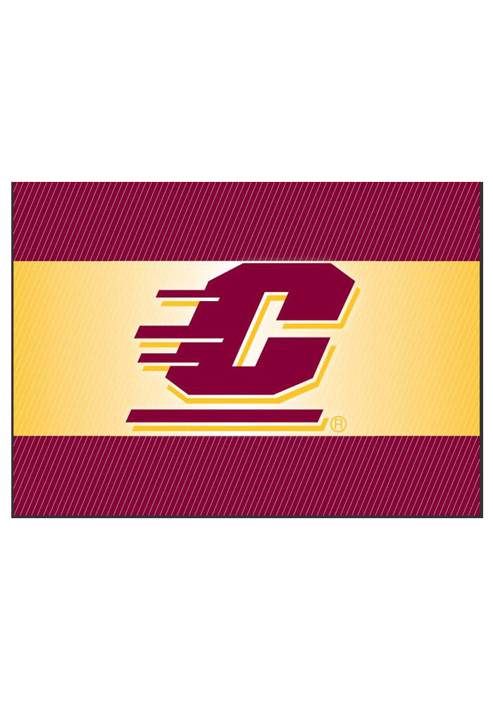 Central Michigan Chippewas team logo on the outside with a blank card inside Card - Image 1