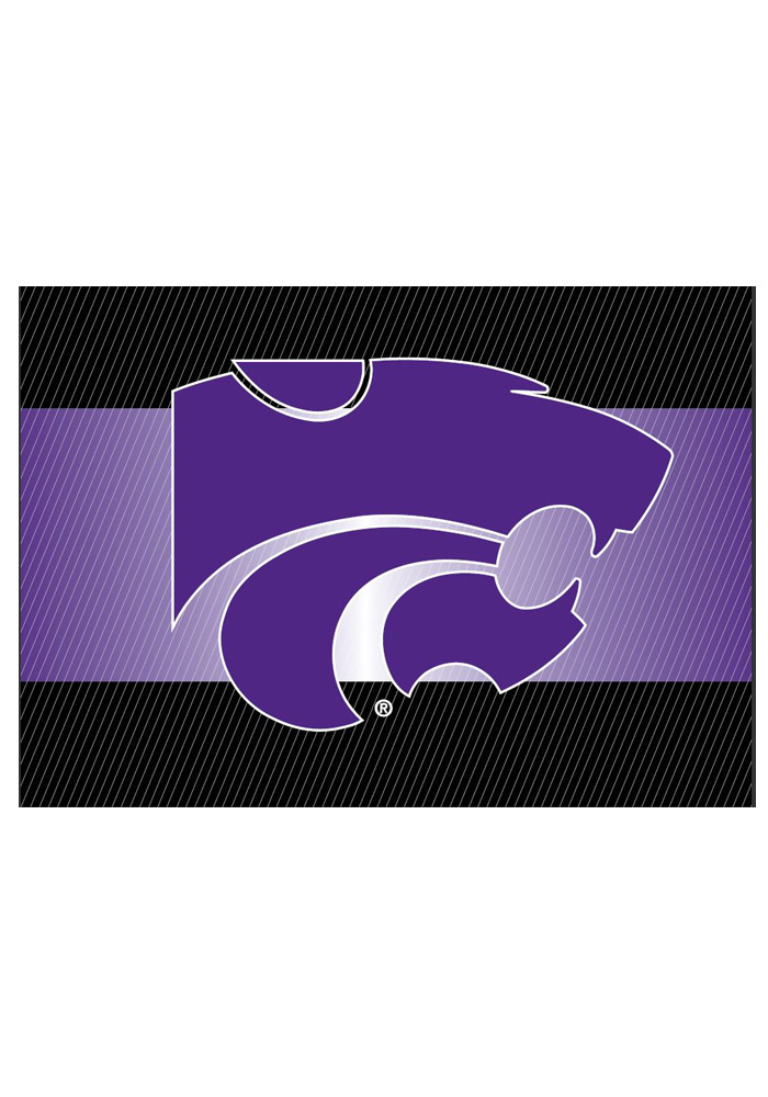 K-State Wildcats team logo on the outside with a blank card inside Card - Image 1