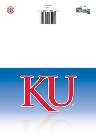 Kansas Jayhawks team logo on the outside with a blank card inside Card