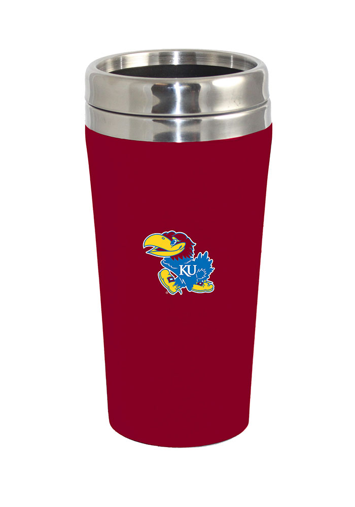 Kansas Jayhawks Soft Touch Travel Mug - Image 1