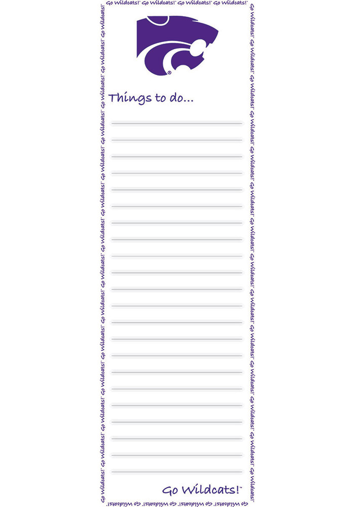 K-State Wildcats To Do List Pad Notepad - Image 1