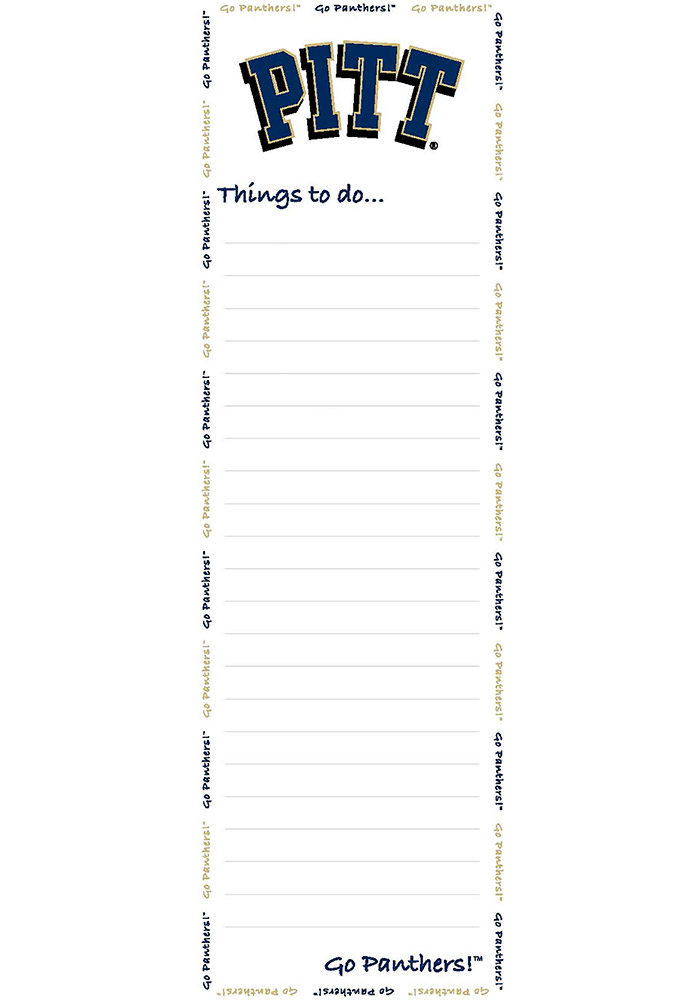 Pitt Panthers To Do List Pad Sticky Notes - Image 1