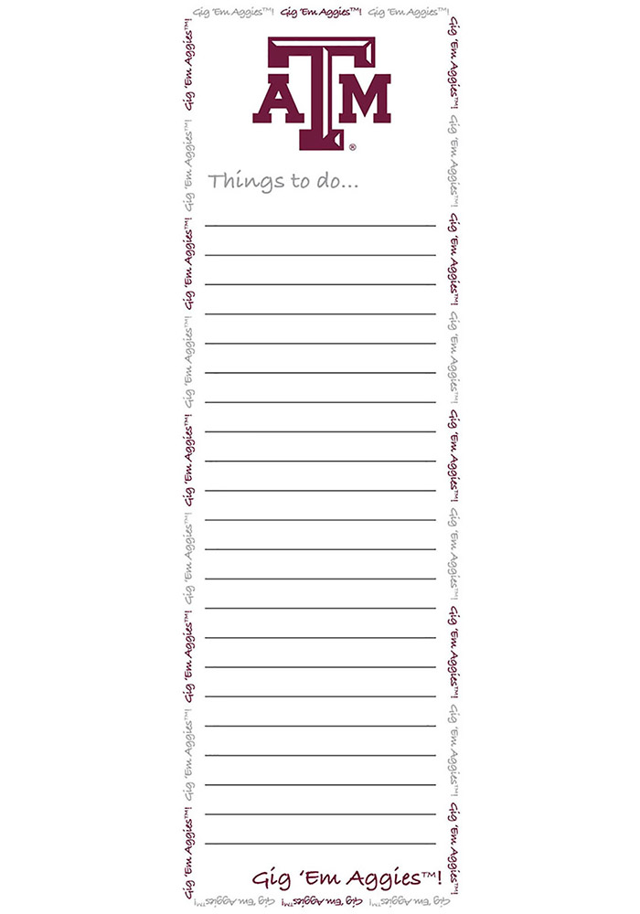 Texas A&M Aggies To Do List Pad Notepad - Image 1