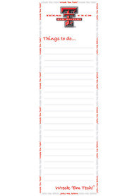 Texas Tech Red Raiders To Do List Pad Notepad