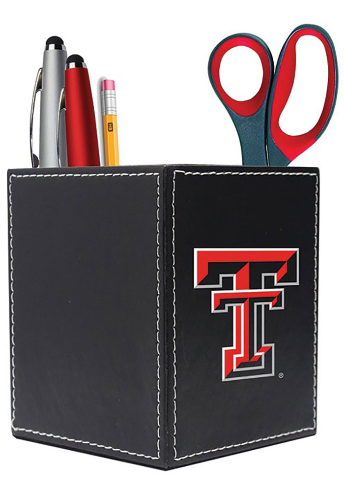 Texas Tech Red Raiders 3.5x4 Square Caddy Desk Caddy - Image 1
