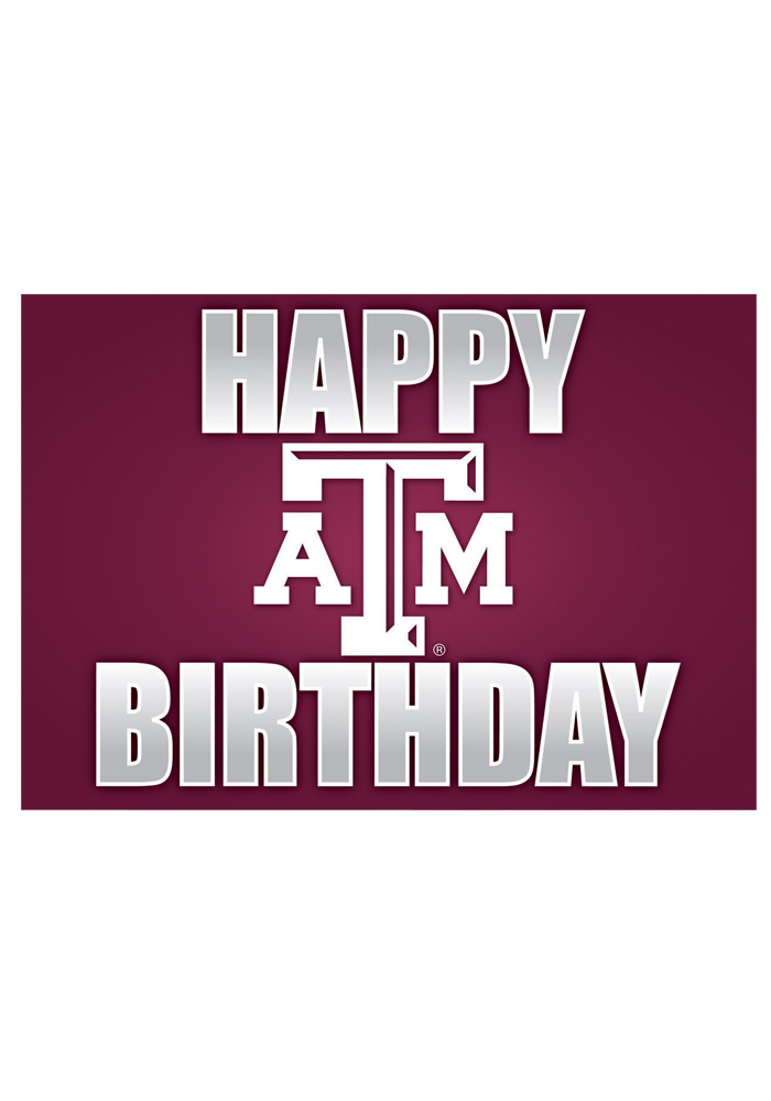 Texas A&M Aggies Happy Birthday Card - Image 1