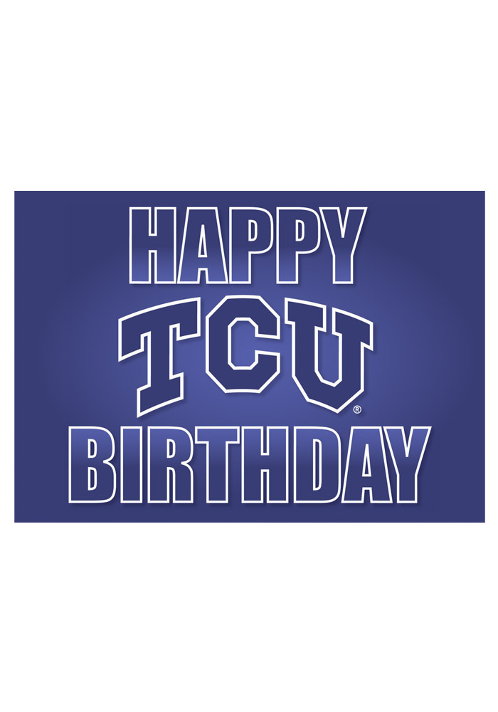 TCU Horned Frogs Happy Birthday Card - Image 1