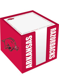 Arkansas Razorbacks Logo Note Cube Holder Desk Accessory