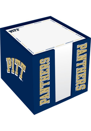 Pitt Panthers Logo Note Cube Holder Desk Accessory