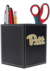Pitt Panthers Leather Desk Caddy