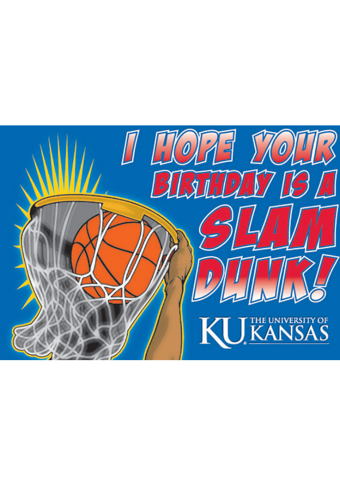 Kansas Jayhawks Happy Birthday Basketball Card - Image 1