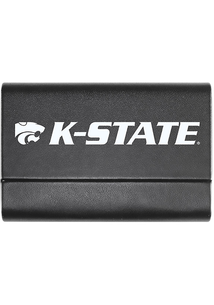 K-State Wildcats Leather Business Card Holder - Image 1
