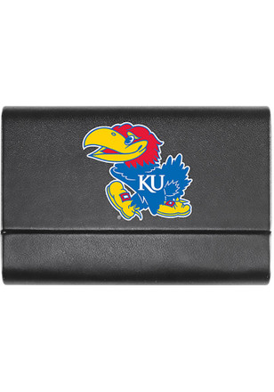 Kansas Jayhawks Leather Business Card Holder