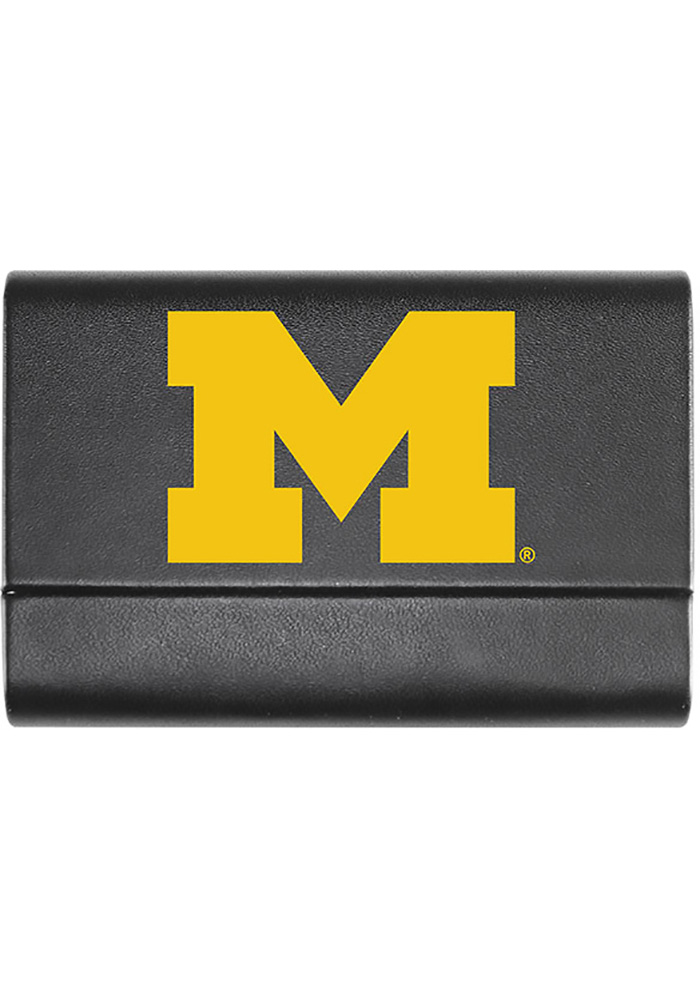 Michigan wolverines leather business card holder 21230841 michigan wolverines leather business card holder colourmoves