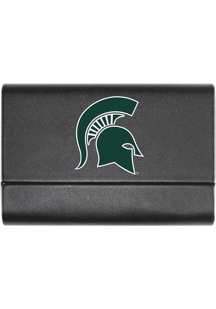 Michigan State Spartans Leather Business Card Holder