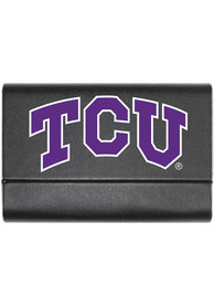 TCU Horned Frogs Leather Business Card Holder