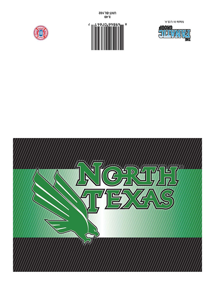 North Texas Mean Green team logo on the outside with a blank card inside Card - Image 1