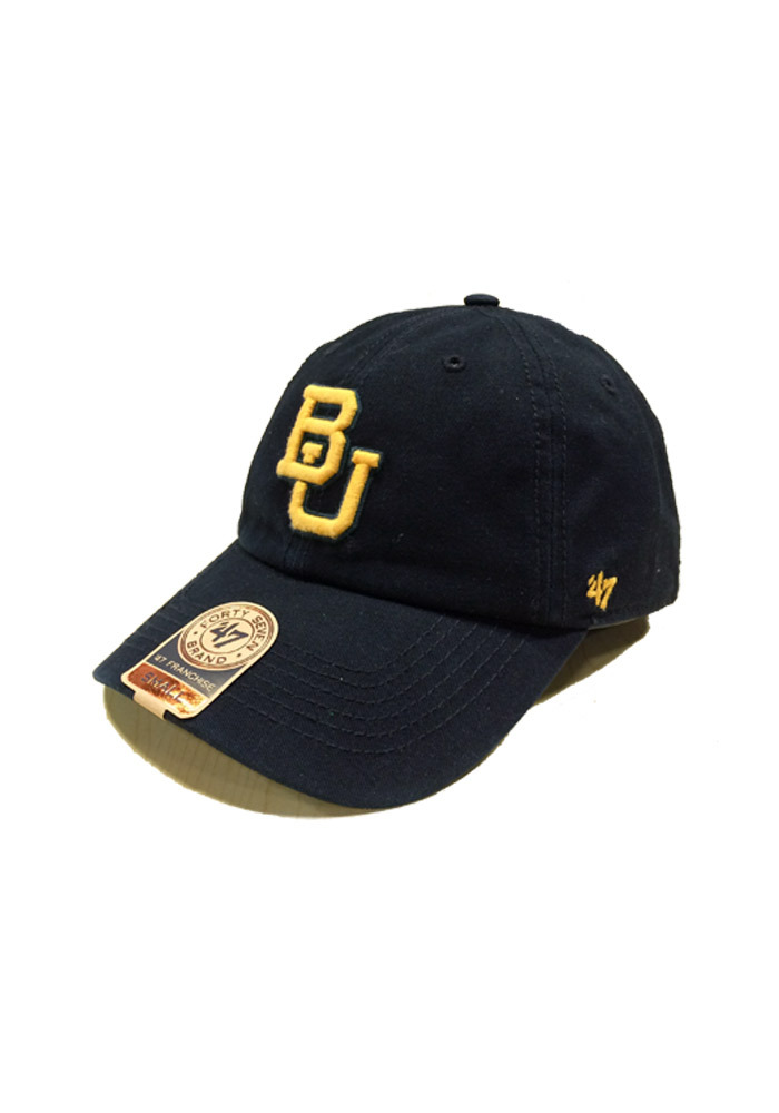 a4f089b209d  47 Baylor Bears Mens Black `47 Franchise Fitted Hat - Image 1.