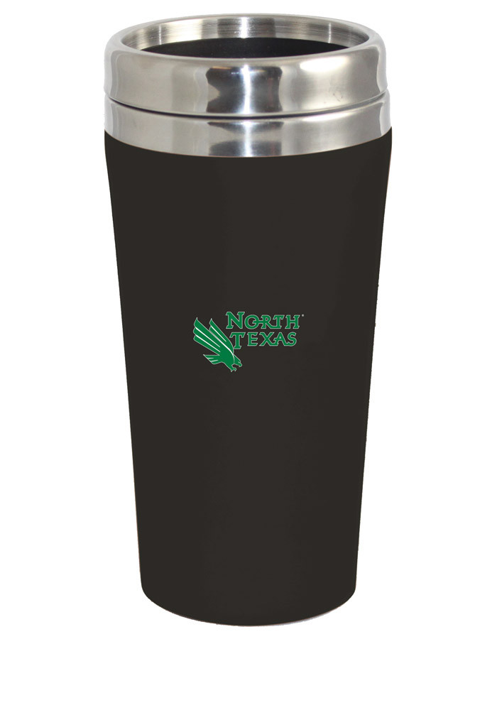 North Texas Mean Green Soft Touch Travel Mug - Image 1