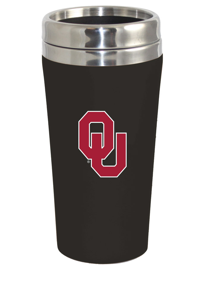 Oklahoma Sooners Soft Touch Travel Mug - Image 1