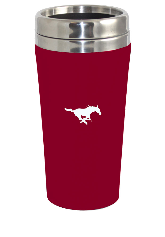 SMU Mustangs Soft Touch Travel Mug - Image 1