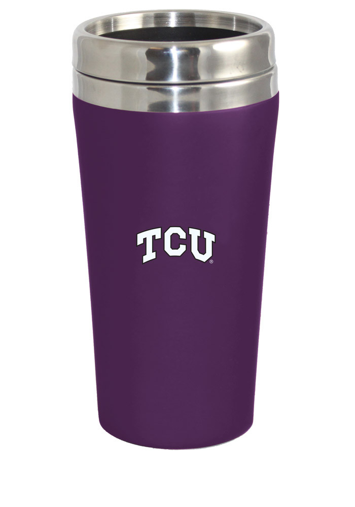 TCU Horned Frogs Soft Touch Travel Mug - Image 1