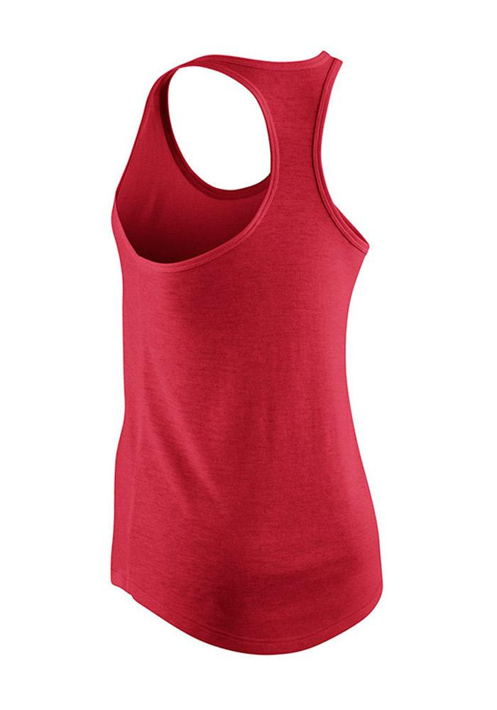 Nike St Louis Cardinals Womens Red Chrome Radness Tank Top - Image 2