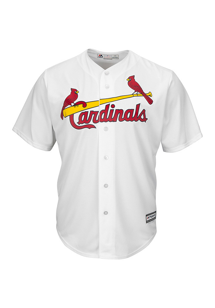 St Louis Cardinals Mens Majestic Replica Cool Base Jersey Jersey - White - Image 1