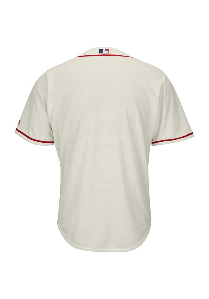 St Louis Cardinals Mens Majestic Replica Cool Base Jersey Jersey - Ivory - Image 3