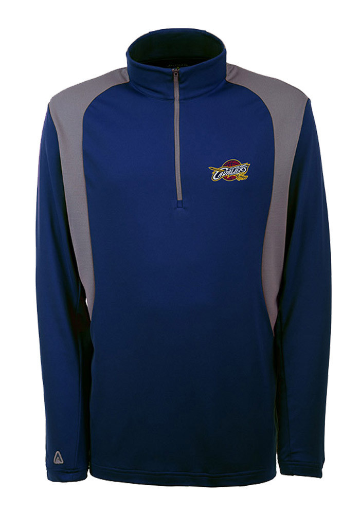 Antigua Cleveland Cavaliers Mens Navy Blue Delta Long Sleeve 1/4 Zip Pullover - Image 1